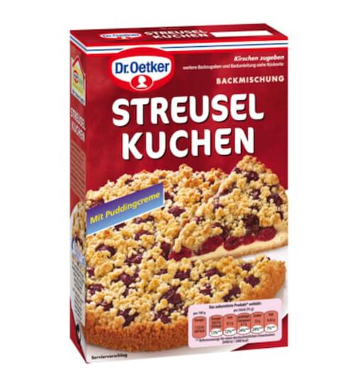 Dr Oetker Streusel Kuchen