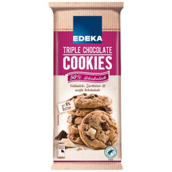 EDEKA Cookies Triple Chocolate 200g